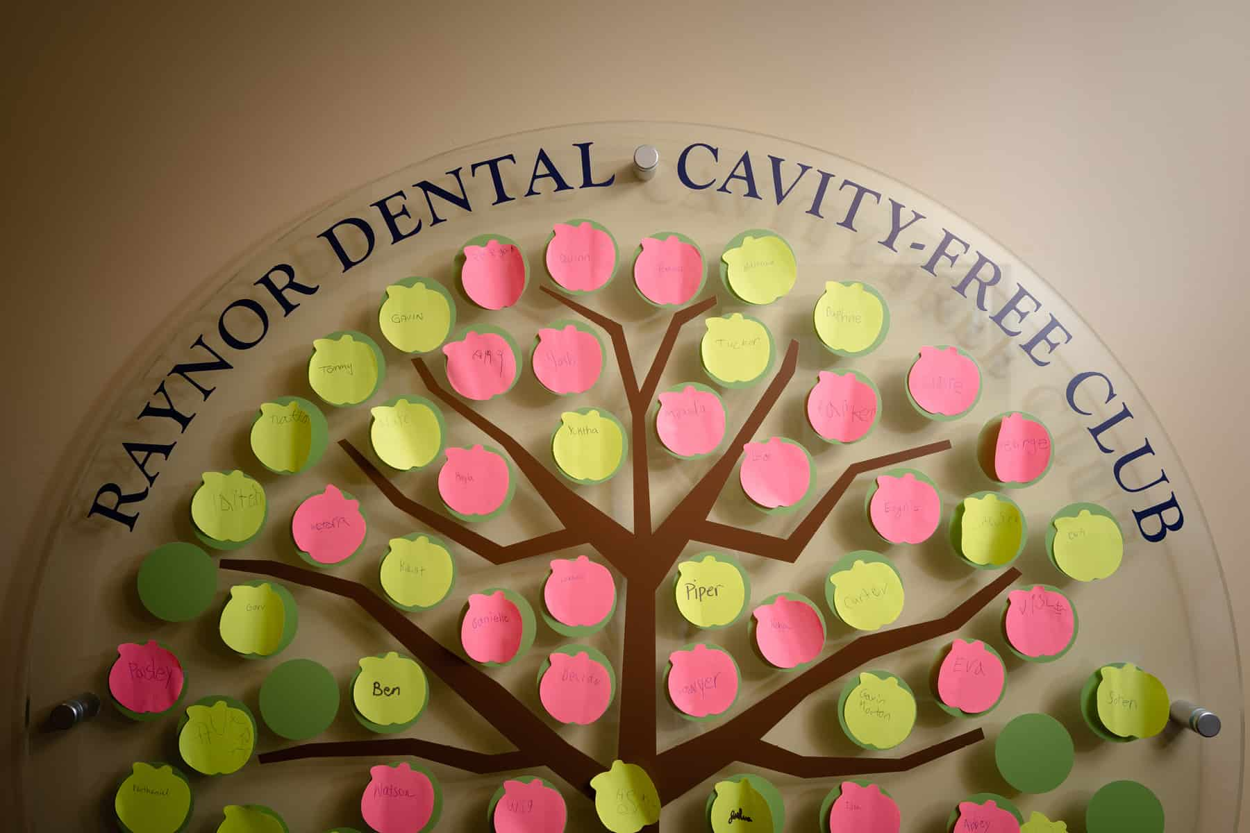 Cavity Free Club on wall in Keene